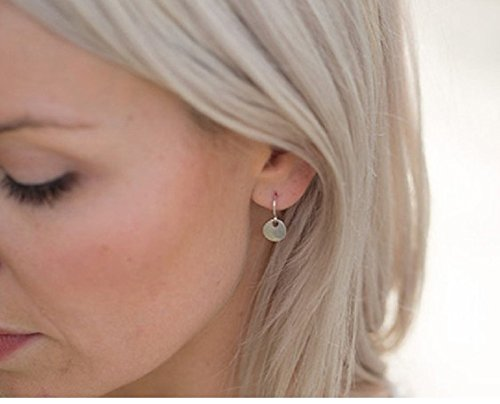 Leiothrix Minimalist Golden Disk Earrings for Women and Girls Apply to Party and Casual