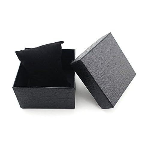 Watch Box, Koolee Elegant Lichee Grain Watch Gift Box Durable Bracelet Jewelry Watch Box (Black) (G Shock G 56)