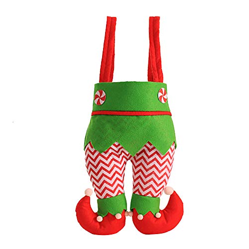 WensLTD Bag - Great for Large and Small Holiday Favors - Designed for Women, Kids, and Men - The Perfect Santa Sack for a Merry and White Christmas - Quality Material (E)