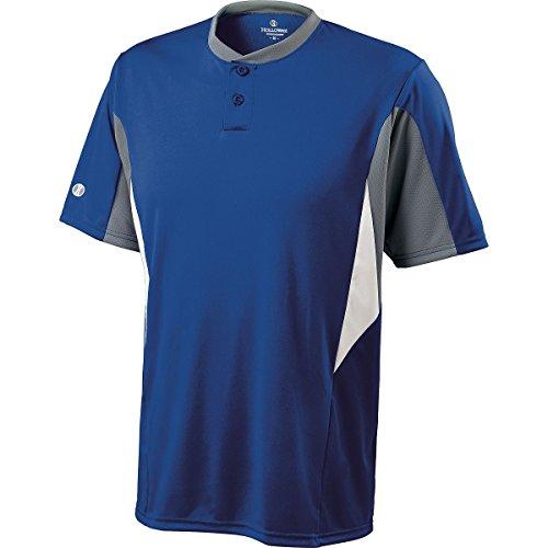 Holloway Men's Rocket Baseball Jersey , Royal Blue|Gray, XXL by Holloway