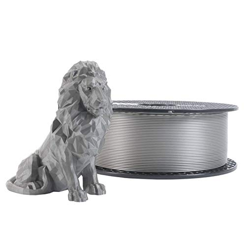 3D Bazaar Prusa PLA Silver 1kg Filament 1.75 mm Diameter Tolerance +/- 0.02mm