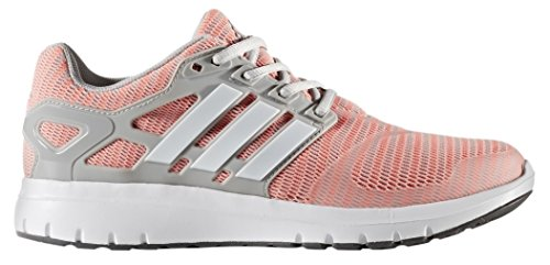 Adidas Performance Women's Energy Cloud V Running Shoe, Grey Two/White/Sun Glow, 7.5 Medium US