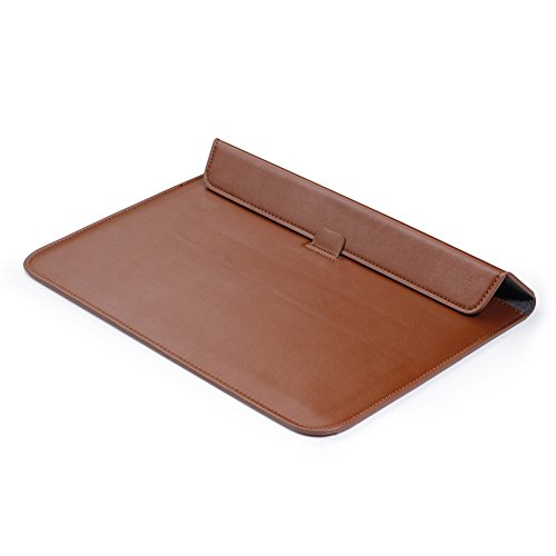 MacBook Pro Retina 13'' Sleeve Case and Keyboard Cover, AICOO YCL Ultrathin Business Message Carrying Bag Case Cover With Stand For Macbook Pro Retina 13.3 inch (A1502 / A1425), Brown by AICOO (Image #6)