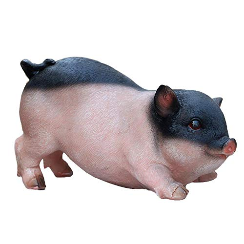 - Nifera Decoration of Dolls Desktop Decoration Simulation Resin Pig Statue Animal Model Crafts Wear Resistant