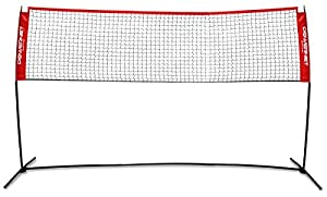 PowerNet Portable Badminton, Tennis, Volleyball, Pickleball Net | 10ft Wide | 3ft to 5ft Adjustable Height | Net and Frame | Driveway, Indoor, Outdoor, Beach, Street, Backyard | EZ Setup Collapsible from PowerNet Inc.
