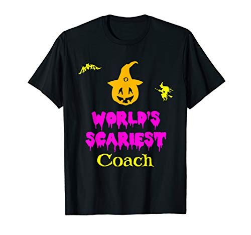 World's Scariest Coach Halloween Costume T-Shirt -