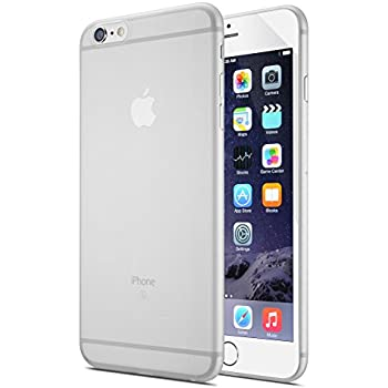 TOZO I1212 0.35mm Ultra-Thin Lightweight Hard Protect Back Cover Bumper Semi-transparent for for iPhone 6S/6 4.7 inch - Matte White