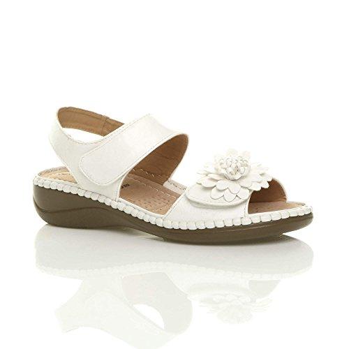 Slingback Low Sandals Women Size White Heel Ajvani ZOvSTq1nx