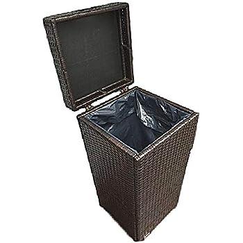 Amazon Com Suncast 33 Gallon Outdoor Trash Can For Patio