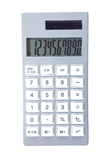 Aluminum Frame Solar Calculator Small Lightweight, 3.94