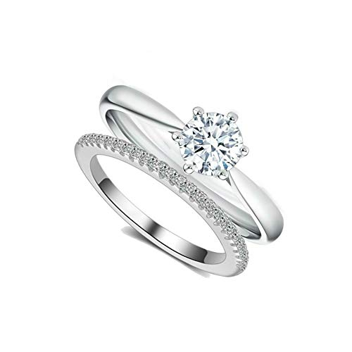 0.5 Ct Solitaire Ring - BeFab Ring Band Set Solitaire Engagement Ring Half Eternity Wedding Band (5)