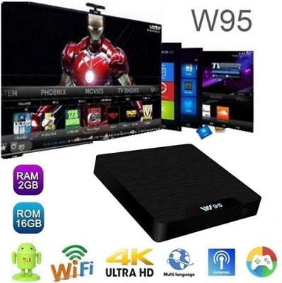 RKTech W95 2GB+16GB Amlogic S905W Android 7 1 2 Set-top Boxes with 2 4GHz  WiFi Lan 100 m Smart TV Box VHD 4K Media Player Receiver