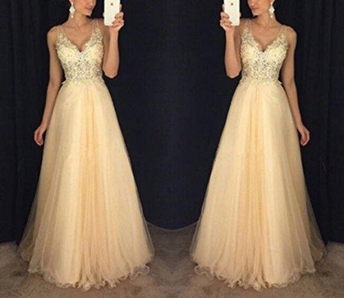 Sommer Lang Kleid Damen Elegant Hochzeit Kleid Sexy V Schnitt Ärmellos  Kleider Maxikleid Tunikakleid Schlank Mode ... b7b9dab713