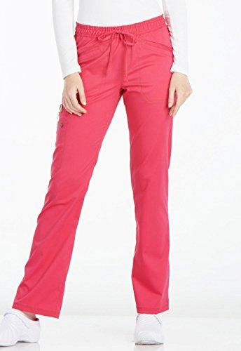 Dickies Women's Essense Mid Rise Straight Leg Drawstring Pant, Hot Pink, XX-Large Petite