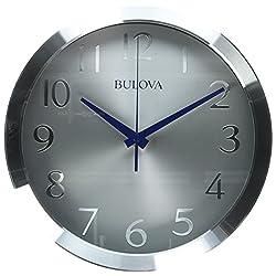 Bulova Winston Wall Clock, Silver