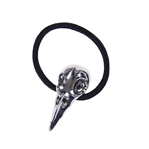 Halloween Bird Skull Hair Band Stylish Plague Doctor Crow Raven Punk Elastic Hair Accessories