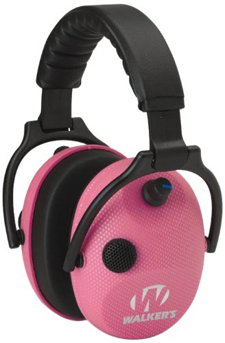 Walkers Alpha Power Muff, Pink/Carbon Graphite by Walker's Game Ear