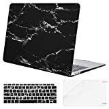 MOSISO MacBook Air 13 Inch Case 2019 2018 Release A1932 with Retina Display,Plastic Pattern Hard Shell & Keyboard Cover & Screen Protector Only Compatible Newest MacBook Air 13, Black Marble
