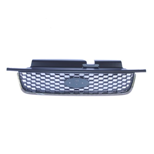 CarPartsDepot, Front Grill Grille Replacement Mesh Grid Screen Plastic, 400-18151 FO1200390 YL8Z17B968BA 2004 Ford Escape Grille
