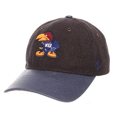 ZHATS NCAA Kansas Jayhawks Adult Men Alum Heritage Collection Hat, Adjustable, Heather Gray -
