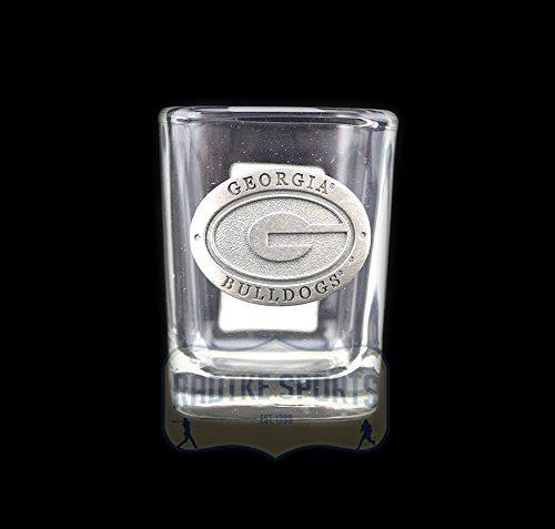 Georgia Bulldogs NCAA Square Shot Glass - Pewter Emblem ()