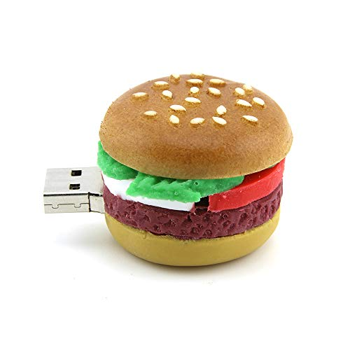16GB USB 2.0 Hamburger Flash Drive Novelty Food Shaped Thumb Drive Pen Drive Jump Drive Creative U Disk Gift(16GB, Hamburger Flash Drive) ()