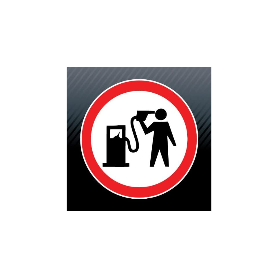 Fuel Gas Pump Head Gun Game Over Warning Caution Funny Sticker