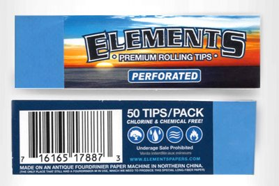 - Elements Premium Rolling Paper Filter Tips {5 Packs / 250 Tips}