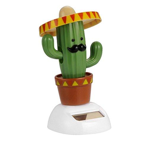 KODORIA Solar Powered Dancing Toy Bobbling Dancing Toy Car Desk Decorative Ornament Kids Children Birthday - Cactus]()