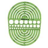 Pickett Circle Radius Master Template, Circle Range Size 3/64 to 7-1/2 Inches (1202I)