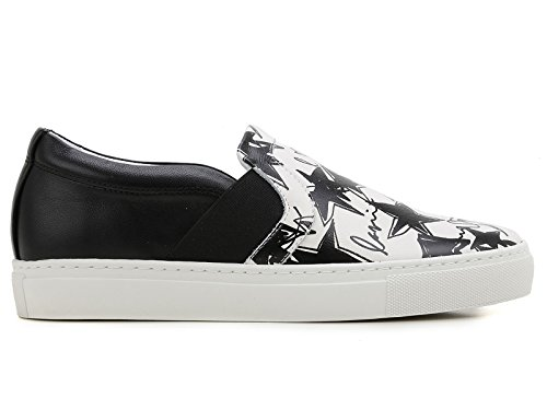 Zapatillas de Lanvin mujeres slip-ons en cuero blanco - Número de modelo: FW SKPBV8 STAR E16 Blanco