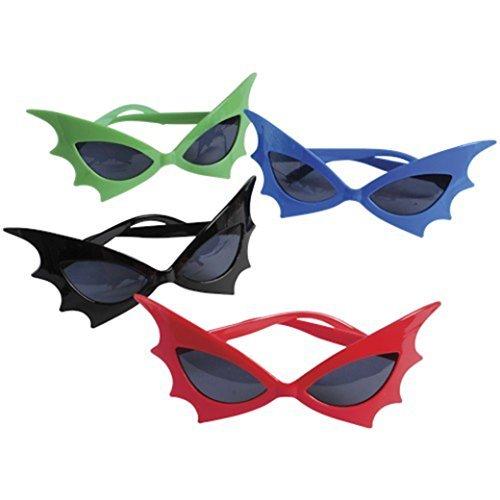 Assorted Color Super Hero Bat Wing Child Size Sunglasses ()