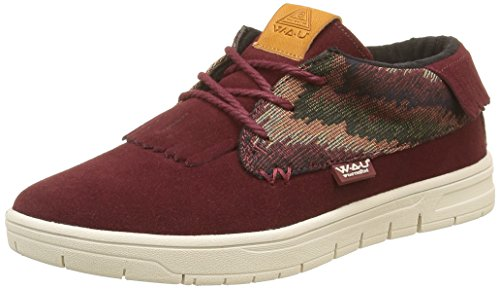 WAU Damen Boho Low-Top Rot - Rouge (Burgundy)