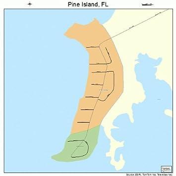 Map Of Pine Island Florida.Amazon Com Large Street Road Map Of Pine Island Florida Fl