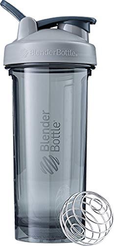 BlenderBottle Pro Series Shaker Bottle, 28-Ounce, Pebble Grey 28 Ounce Blender Bottle