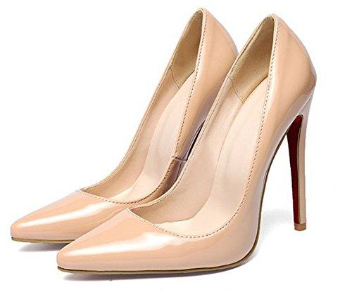 Stiletto Cheville Femme Aisun Escarpins Pointues Abricot Mode Bride q4wIg