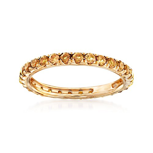 Ross-Simons 1.00 ct. t.w. Citrine Eternity Band in 14kt Yellow Gold ()