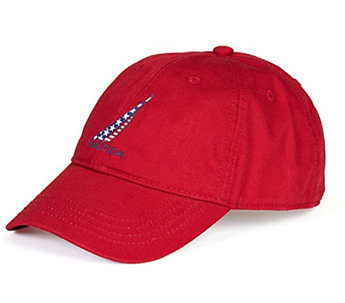 na J-Class Logo Adjustable Cap Hat (One Size, Red) ()