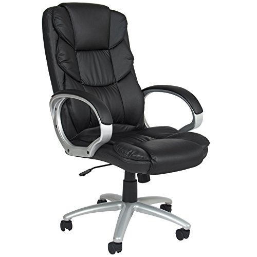 LTL Black Chair Office High Back Computer Executive High Ergonomic Leather Pu