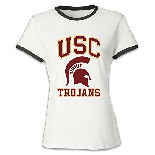 Women's University Of Southern California USC Trojans Baseball T-shirt Black (Tee Trojans Usc)