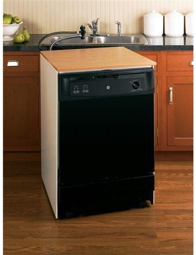 GE GSC3500DBB 24' Black Portable Full Console Dishwasher - Energy Star