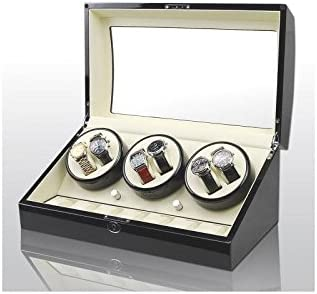 Vitrina Movimiento Relojes Watch Winder 6+7 Black-Cream Modelo 038BW: Amazon.es: Hogar
