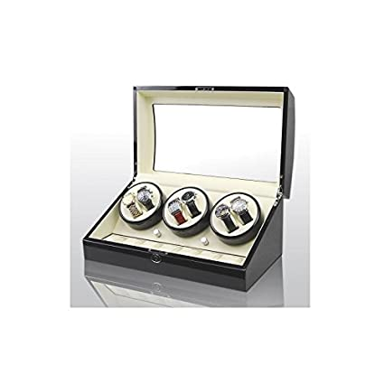 3d4fa6d75 Vitrina movimiento relojes Watch Winder 6+7 Black-Cream Modelo 038BW ...