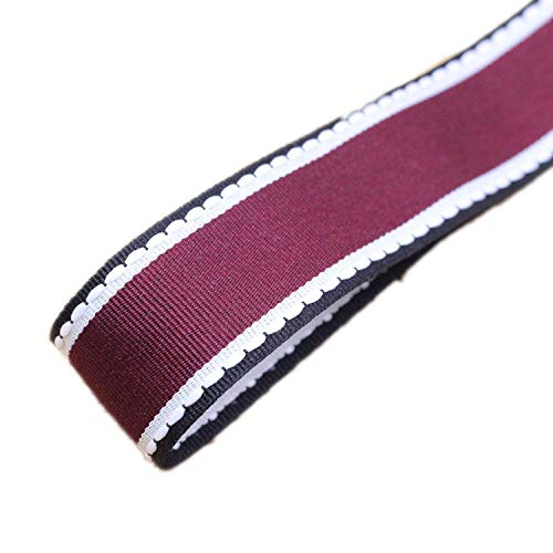 1 Meters/Lot 1inch 25mm Jump Line Grosgrain Satin Ribbon DIY Handmade Arts Decorative Crafts Hair Bow Sewing Accessories,Burgundy
