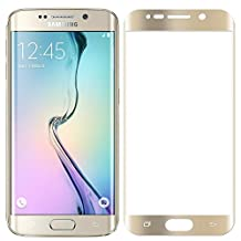 Puccy Samsung Galaxy S6 Edge Screen Protector 3D Full Coverage Protective Screen Film Protectors for S6 Egde (Gold)[Not Tempered Glass]