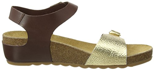 Hush Puppies Tease Soothe, Women's Wedge Sandals Multicolor (Brown/Light Gold)