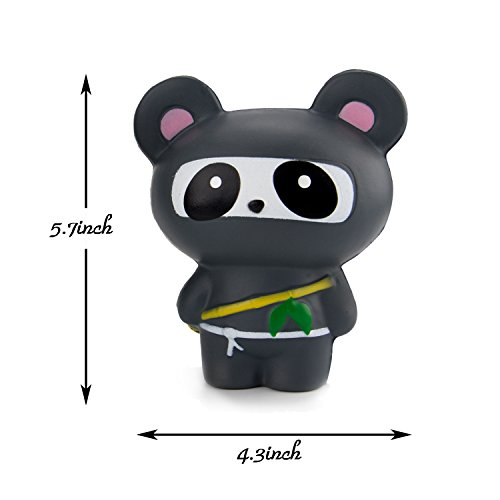 BeYumi Panda Ninja, Glasses Cat, Unicorn Squishy Cream Scented Slow Rising Toy Soft Cute Simulation Animal Squeeze Toys for Collection Gift, decorative props Large or Stress Relief