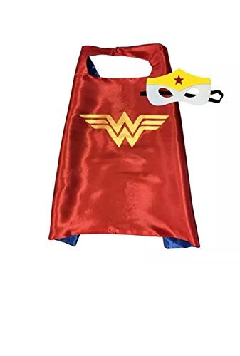 (SBK Kids Superhero Dress Up Costume and Dress up - Satin Cape and Felt Mask Halloween, Birthday)