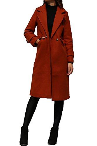 Women's Long Long Woolen Coat Caramel by jeanie's lifestyle