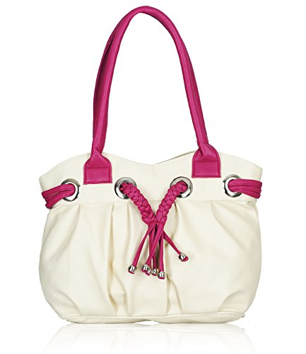Fristo Cream and Pink women handbag (FRB-026)(Cream and Pink)